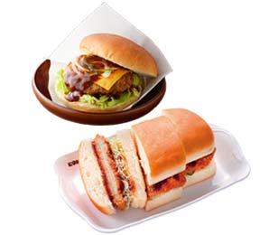 コメダ珈琲・姫路駅前店のハンバーガーやサンドイッチ
